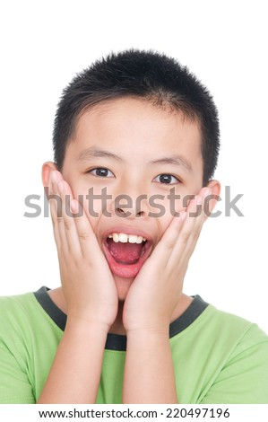an handsome in asian kid smiling  - stock photo