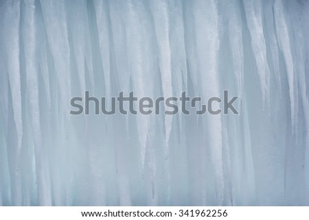 An Icicle Background - stock photo