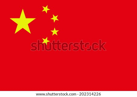 An Illustrated Drawing of the flag of China - stock photo