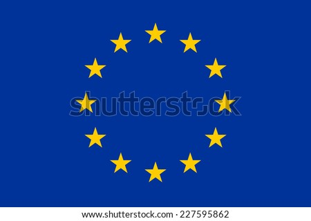 An Illustrated Drawing of the flag of European Union - stock photo