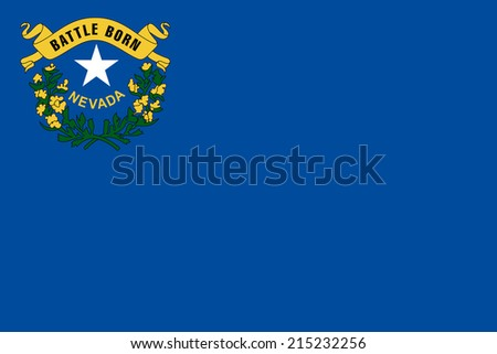 An Illustrated Drawing of the flag of Nevada state (USA)  - stock photo