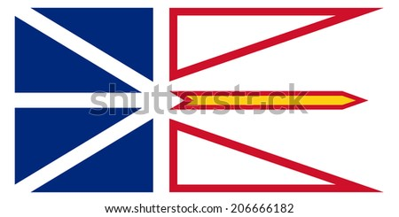 An Illustrated Drawing of the flag of Newfoundland and Labrador - stock photo