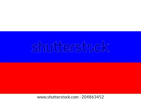 An Illustrated Drawing of the flag of Russia - stock photo