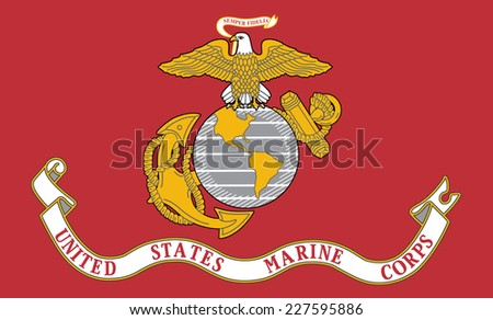 An Illustrated Drawing of the flag of United States Marine Corps - stock photo