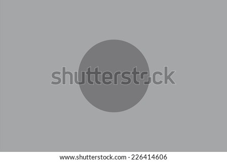 An Illustrated grayscale flag of the country of Bangladesh - stock photo