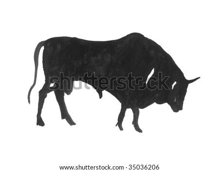 an illustration of a bull