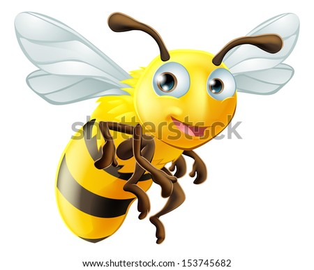 An illustration of a cute cartoon bee