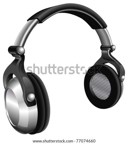 An illustration of a large pair of music headphones.