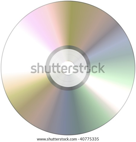 An illustration of a nice CD Rom texture - stock photo
