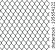 An illustration of a seamlessly tillable chain link fence pattern - stock vector