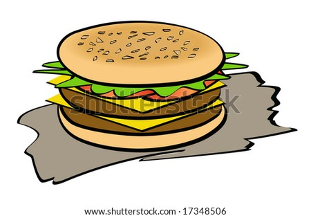 An illustration of colorful and tasty sandwich - stock photo