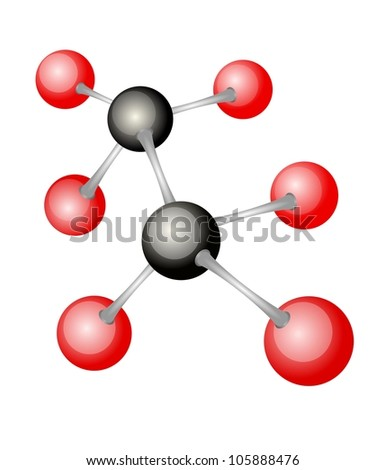 An illustration of molecule model on white background