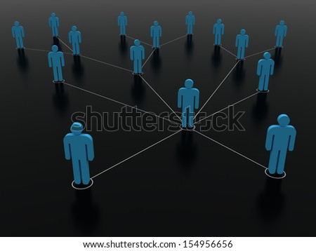 An illustration of people and social networking - stock photo