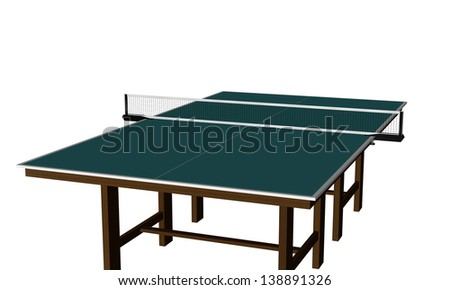 An illustration of table tennis