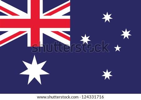 An illustration of the flag of Australia - stock photo