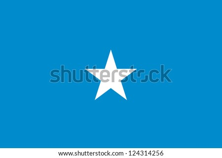 An illustration of the flag of Somalia - stock photo
