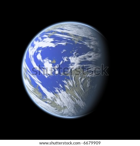 an image of a blue planet in the space