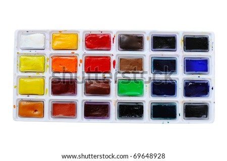 An image of a box of bright paints