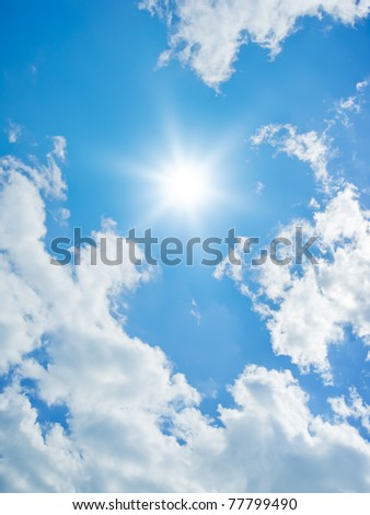 An image of a bright sky background