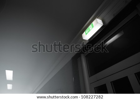 An image of a escape sign in germany - stock photo
