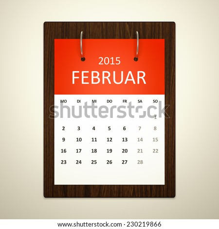 An image of a german calendar for event planning february 2015 - stock photo