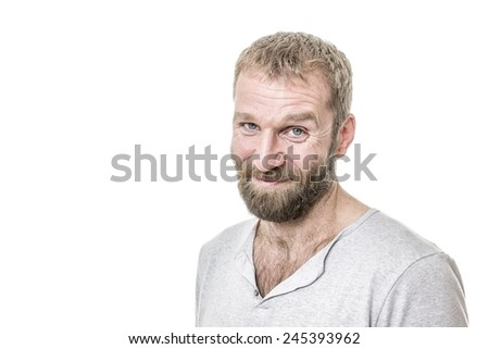 An image of a handsome bearded man casual