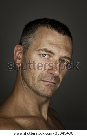 An image of a handsome male portrait - stock photo