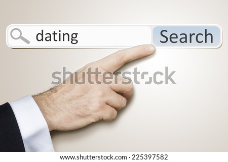 An image of a man who is searching the web after dating - stock photo