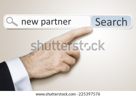 An image of a man who is searching the web after new partner - stock photo