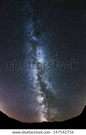 An image of a milky way  - stock photo