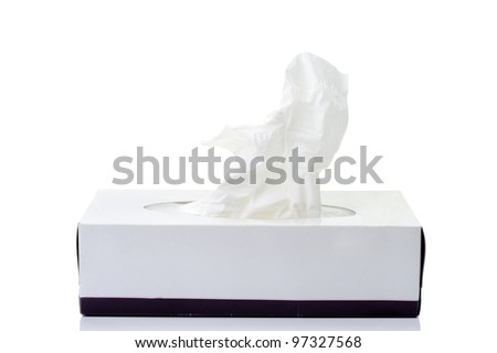An image of a napkins in a box - stock photo