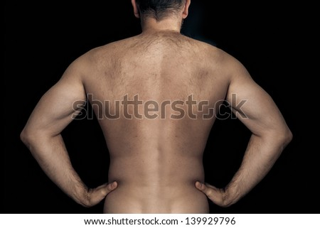 An image of a natural male back - stock photo