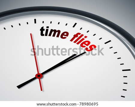 An image of a nice clock with time flies