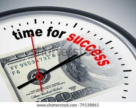 An image of a nice clock with time for success