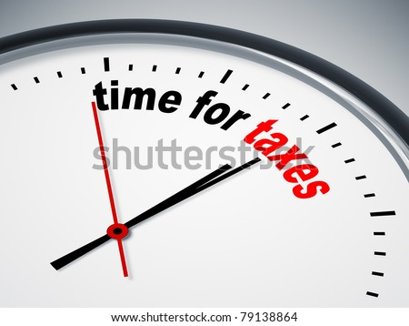 An image of a nice clock with time for taxes