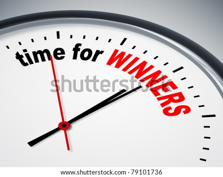 An image of a nice clock with time for winners