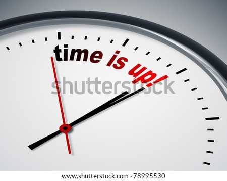 An image of a nice clock with time is up