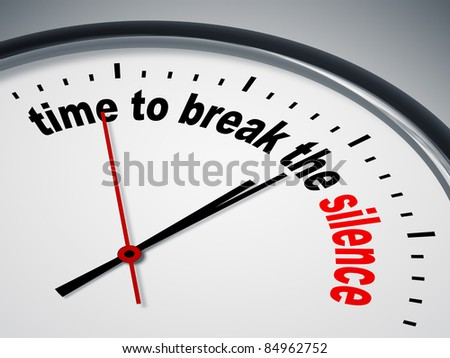 An image of a nice clock with time to break the silence