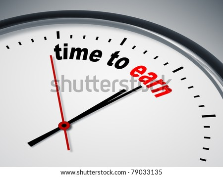 An image of a nice clock with time to earn