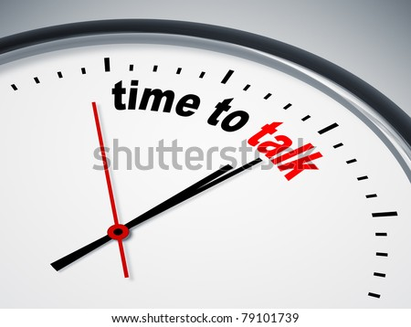 An image of a nice clock with time to talk