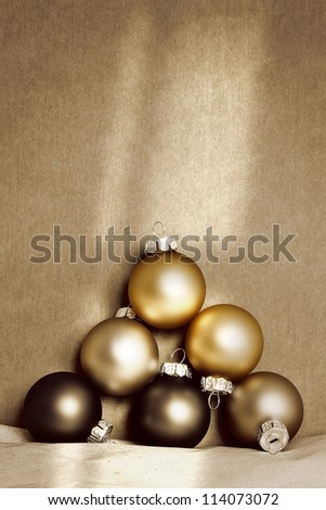 An image of a nice golden christmas background - stock photo