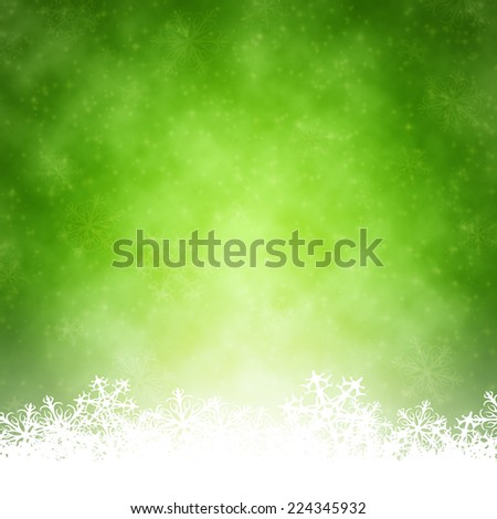 An image of a nice green christmas background - stock photo