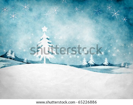 An image of a nice grunge christmas background - stock photo