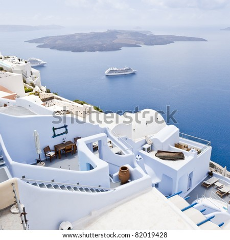 An image of a nice Santorini view - stock photo