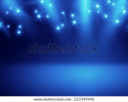 An image of a nice stage lights background for your content - stock photo