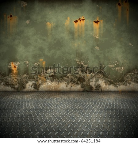 An image of a nice steel floor background - stock photo