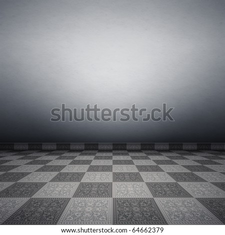 An image of a nice tiles floor background - stock photo