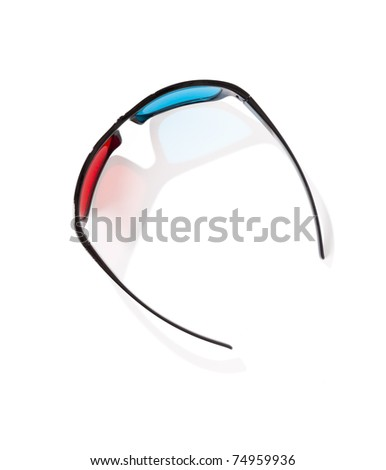An image of a pair of 3D glasses - stock photo