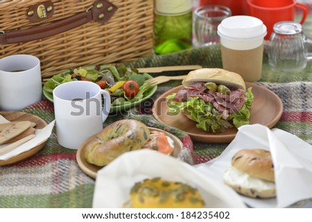 An image of a Picnic lunch - stock photo