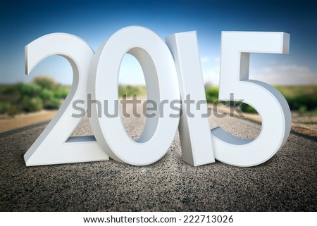 An image of a road to the horizon 2015 - stock photo